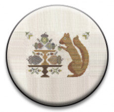 Autumn Squirrel - Zappy Dots Needle Nanny