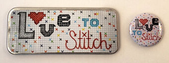 Love to Stitch - Magnetic Needle Tin