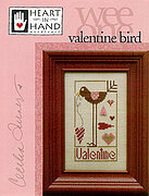Valentine Bird (Wee Ones) - Cross Stitch Pattern