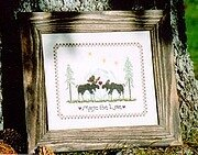 Moose Be Love - Cross Stitch Pattern
