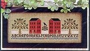 Two Red Houses - Cross Stitch Pattern