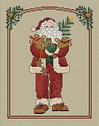 Gingerbread Santa - Cross Stitch Pattern