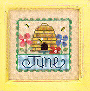 Flip-It Stamp June - Cross Stitch Pattern