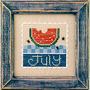 Flip-It Stamp July - Cross Stitch Pattern