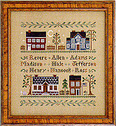 Colonial Homes - Cross Stitch Pattern
