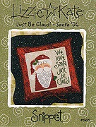 Just Be Claus (Santa 06) - Cross Stitch Pattern