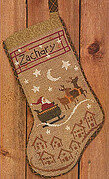 Christmas Eve Stocking - Cross Stitch Pattern