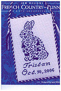 French Country Bunny - Cross Stitch Pattern