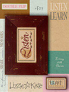 Living Double Flip - Listen/Learn - Cross Stitch Pattern