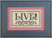 Living Double Flip - Create/Live - Cross Stitch Pattern