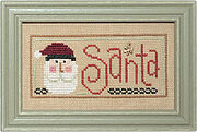 Christmas Spirit Double Flip - Cookies/Santa - Cross Stitch