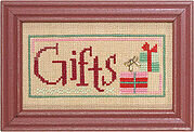 Christmas Spirit Double Flip - Gifts/Wonder - Cross Stitch