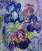 QS - Iris - Cross Stitch Pattern