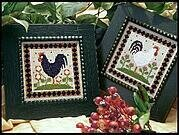 Two Roosters - Cross Stitch Pattern