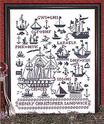 Sailing Ships Sampler - Cross Stitch Pattern