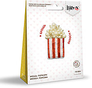 Popcorn Brooch - Seed Bead Embroidery Kit