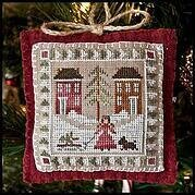 2011 Ornament 2 Bringing Home the Tree Cross Stitch Pattern