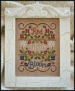 Red White and Bloom - Cross Stitch Pattern