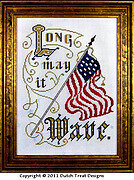 Long May It Wave - Cross Stitch Pattern