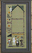 Haunted House - Petrified Party - Cross Stitch Pattern