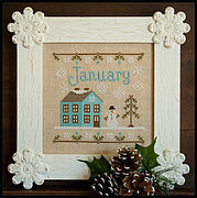 Cottage of the Month January - Cross Stitch Pattern