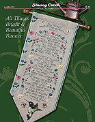 All Things Bright & Beautiful Banner - Cross Stitch Pattern