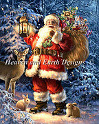 Woodland Santa (Gelsinger) - Cross Stitch Pattern
