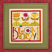 Bloom (with buttons) - Cross Stitch Pattern