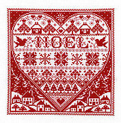Redwork Noel - Cross Stitch Pattern