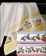 Checked Kitchen Towel - Madagascar Red