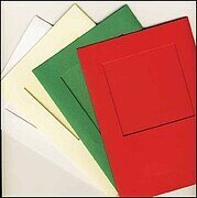 Large Red Aperture Window Card - Square Opening
