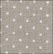 32 Count Petit Point Raw/White Belfast Linen Fabric 36x55