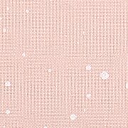 32 Count Splash Powder Pink w/White Dots Lugana Fabric 36x55