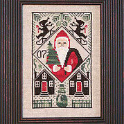 Let It Snow - 2007 Santa - Cross Stitch Pattern