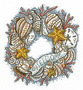 Seaside Wreath - Cross Stitch Pattern