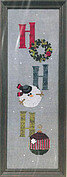 Ho Ho Ho (with buttons) - Cross Stitch Pattern