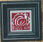 Autumn Spice   White - Cross Stitch Pattern (beads included)