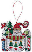 Santa in a Pocket - Cross Stitch Pattern