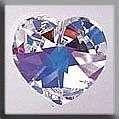 Mill Hill 13047 Large Heart - Crystal AB