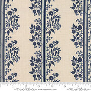 French General Vive La France Perette Dark Blue - Yardage