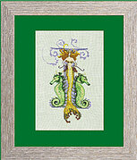 Letters From Mermaids - I - Cross Stitch Pattern