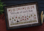 Welcome All  Hearts - Cross Stitch Pattern