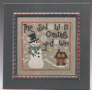 Snow is Coming Down (w/charm)- Cross Stitch Pattern