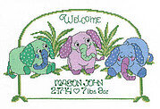 Baby Elephant Birth - Cross Stitch Pattern