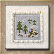 Frosty Forest 6 - Snowy Foxes - Cross Stitch Pattern