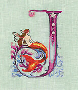 Letters From Mermaids J - Cross Stitch Pattern