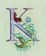 Letters From Mermaids K - Cross Stitch Pattern
