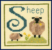 S is for Sheep - Cross Stitch Pattern