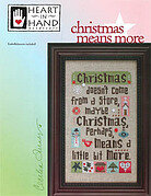 Christmas Means More (w/charms) - Cross Stitch Pattern