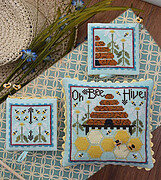 Oh Bee Hive - Cross Stitch Pattern (includes 7 hexies)